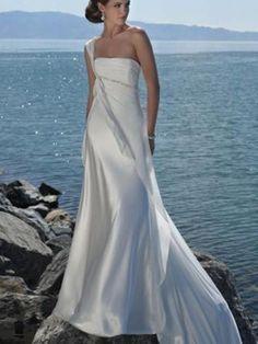 Bartley-Robe de Mariée en Mousseline polyester avec Perle