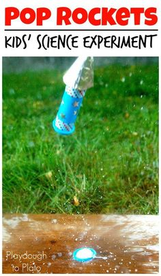 Pop Rockets. Awesome science experiment for kids!! This would be so fun for the 4th of July.