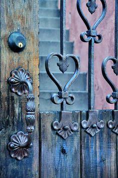 Rustic blue gate