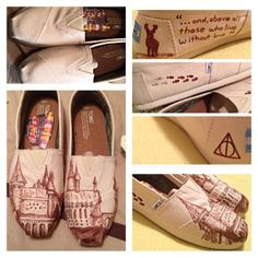 Custom Harry Potter Toms. Amazing!!!