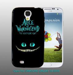 Alice in Wonderland Cheshire Cat - For Samsung S4 i9500 Black Case