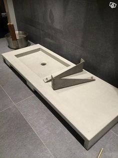 Tvättställ/handfat i betong