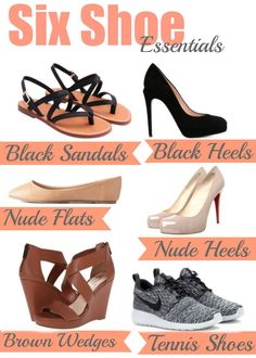 6 Shoes Ever Girl Should Have: The basics to get you through any event you'll ever go to. http://simplesouthernbelle.net