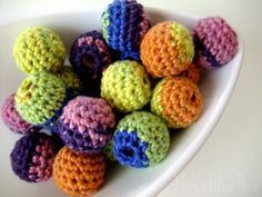 Love these crochet beads by ThreeBlueBees