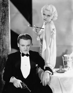 James Cagney and Jean Harlow in The Public Enemy Jimmy was Hollywood's toughest tough guy. Jean was Hollywood's sexiest platinum blonde. Hollywood Stars, Old Hollywood Glamour, Golden Age Of Hollywood, Vintage Hollywood, Classic Hollywood, Hollywood Boulevard, Hollywood Icons, Vintage Vogue, James Cagney