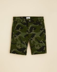 Hudson Boys' Camouflage Stretch Twill Chino Shorts - Sizes 4-20