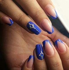 blue and nail image
