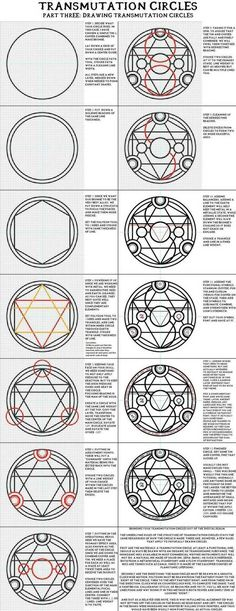 "Sigils & Symbols: ""Part Three: Drawing Transmutation Circles"". Full Metal Alchemist / Hagane No Renkinjutsushi. Sigils & Symbols: Part Three: Drawing Transmutation Circles. Full Metal Alchemist / Hagane No Renkinjutsushi. Full Metal Alchemist, Magic Symbols, Fullmetal Alchemist Brotherhood, Magic Circle, Pentacle, Book Of Shadows, Magick, Pagan Witchcraft, Drawings"