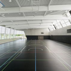 Sporthalle - Zoll-Architekten Stadtplaner GmbH School Design, Planer, Foyer, Stairs, Japan, Organisation, Building Block Games, Projects, Architects