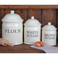 Shop CHEFS English Baker's Stoneware Canister Set at CHEFS.