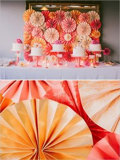 Pink And Peach Pinwheel Wedding