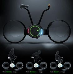 Foldable Electric Bicycle Futuristic Design.