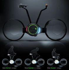 Foldable Electric Bicycle Futuristic Design