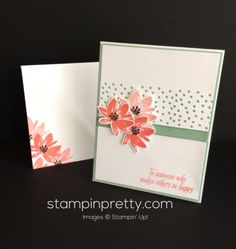Avant Garden stamp set thank you card idea. Mary Fish, Stampin' Up! Demonstrator. 1000+ StampinUp & SUO card ideas. Read more https://stampinpretty.com/2017/02/simple-pretty-avant-garden-thank-you-card.html