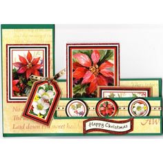 CARD PACKS - SIDE STEP CARDS with Envelopes - 5PK - DEEP GREEN - PK598-23