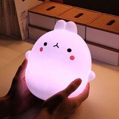 Rabbit Touch Sensor For Kids Children Bedroom Side Table LED Night Lamp New - Plushies Cute Night Lights, Kawaii Bedroom, Side Tables Bedroom, Kawaii Accessories, Gamer Room, Cute Room Decor, Aesthetic Room Decor, Room Setup, Dream Rooms