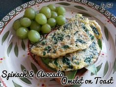Spinach & Avocado Omelet on Toast