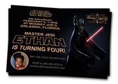 Star Wars Invitations Printable Darth Vader Boy by thepartystork,