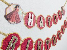 Princess Birthday Banner Elena of Avalor Banner by NiuDesigns