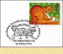 Orlando stamp issued by Great Britain in 1994. I love Orlando the Marmalade Cat.