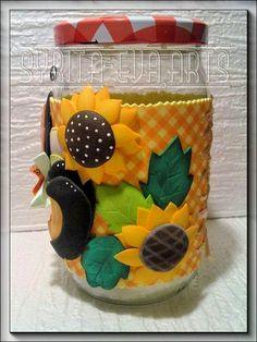 Mason Jar Crafts, Bottle Crafts, Mason Jars, Fun Crafts, Diy And Crafts, Pasta Flexible, Polymer Clay Crafts, Clay Art, Holi