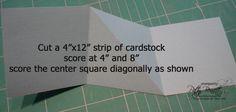 Card w diagonal gift card pocket