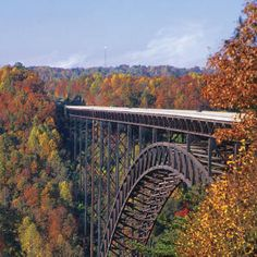 New River Gorge Bridge, Fayetteville, West Virginia. Autumn frames scenes of our South in a variety of ways. The New River Gorge Bridge in West Virginia opens to pedestrians one special day of the year.