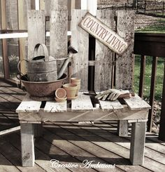 Pallet Bench...We have these sitting by the bonfire to burn but we should make a bonfire bench :)