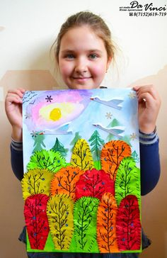 Одноклассники – Education is important Kindergarten Art Lessons, Art Lessons Elementary, Fall Arts And Crafts, Fall Crafts For Kids, Kids Art Class, Art For Kids, Fall Art Projects, 5th Grade Art, Art Drawings For Kids