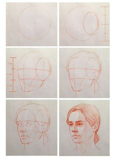 Head proportions step by step by Cuong Nguyen https://www.facebook.com/icuong?fref=photo