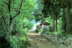 """""""Only Yesterday おもひでぽろぽろ"""" by 山本二三 Nizō Yamamoto* Backgrounds Art   © Studio…"""