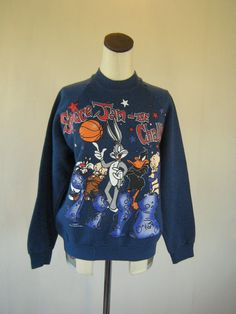 Space Jam Looney Tunes Basketball Sweater Top 1996. $40.00