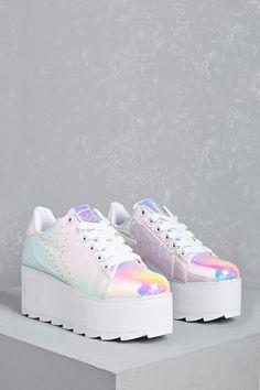 Y.R.U. Holograph Platform Shoes