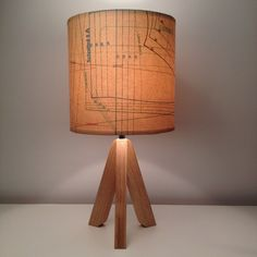 how to uypcycle vintage music sheets or patterns for a lamp shade cover