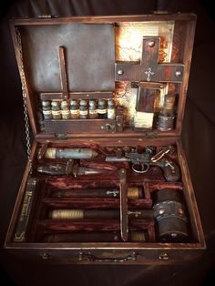 19th Century Traveling Vampire Killer's Kit. by TheRagNBoneEmporium on Etsy https://www.etsy.com/listing/102502826/19th-century-traveling-vampire-killers
