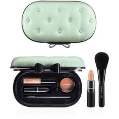 MAC 'Sinfully Chic' Face Kit (Nordstrom Exclusive) Sinfully Chic ($70) ❤ liked on Polyvore featuring beauty products, makeup, beauty, mac cosmetics makeup, mac cosmetics kit, powder blush, mac cosmetics and blush brush