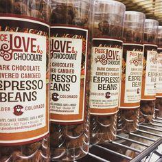 New packaging, new labels, same delicious chocolate covered espresso beans. #espresso #espressobeans #chocolate #chocolatecovered #shameless #advertising #boulder #colorado #chocolateshop #chocolatier #darkchocolate