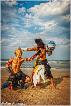 Tidus and Jecht from Final Fantasy X.