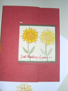 birthday- Give Thanks (ruby red; tri-fold technique)- stampin up card