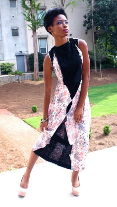 Beautiful floral and lace dress  #Flowershop