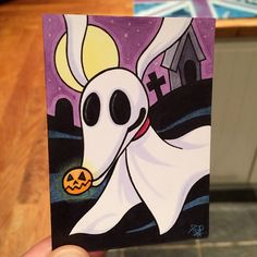 Artwork by Todd-The-Fox Halloween Canvas Paintings, Disney Canvas Paintings, Disney Canvas Art, Small Canvas Art, Halloween Painting, Mini Canvas Art, Cute Paintings, Christmas Paintings, Halloween Art