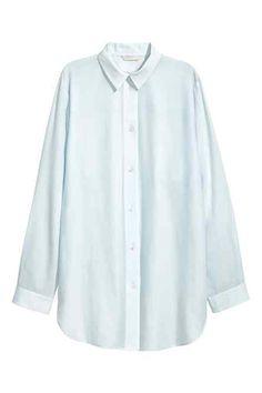 Robe chemise en soie mélangée