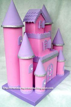 Pinkie Blue Artigos para festa: Castelo de Princesa de e.v.a.