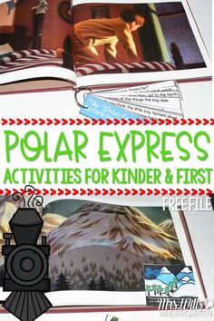 Polar Express Classroom Activities for kindergarten and first grade. Students will retell the story, make connections, complete a craft, plus math and literacy center activities.  Worksheets to make this fun Christmas resource and lesson plans easy to prep with tons of learning!