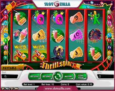 Enjoy a wonderful fun park themed #game! Ran by #NetEnt Thrill Spin will bring you pure fun and excitement from the very moment you spin the reels. The game boasts fancy icons, ambient sound effects and perfect graphics. It's worth mentioning that the game is perfect both for the low wagering and high wagering gamblers. The max #jackpot win can easily take your breath away. Just imagine the moment once you hit $25,000! Interesting? http://www.slotozilla.com/free-slots/thrill-spin #freeslots