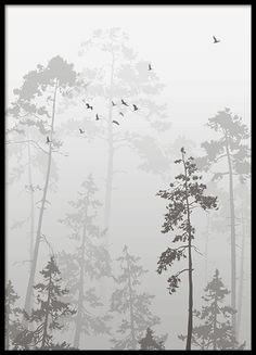 Foggy forest, poster i gruppen Plakater / Størrelser hos Desenio AB (8352)