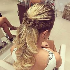 Romantic Hairstyles, Fancy Hairstyles, Bride Hairstyles, Bridesmaid Hair, Prom Hair, Hairdo Wedding, Mademoiselle, How To Make Hair, Hair Day