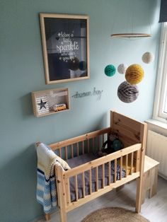 Tranquil Dawn is the Color of the Year 2020 by the Flexa color experts. And that the trend is to combine color? Baby Bedroom, Baby Boy Rooms, Baby Room Decor, Nursery Room, Kids Bedroom, Toddler And Baby Room, Creative Kids Rooms, Baby Corner, Baby Room Design