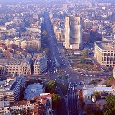 Bucharest - Universitatii Square, Intercontinental Hotel A lovely city - would love to return someday Romania Tourism, Romania Travel, Capital Of Romania, Places Around The World, Around The Worlds, Bucharest Romania, Beautiful Sites, City Break, Travel And Tourism