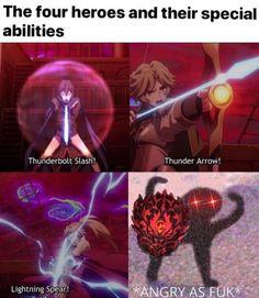 Read The rising of the shield hero / Tate No Yuusha No Nariagari full Manga chapters in English online! Stupid Funny Memes, Funny Relatable Memes, Hilarious, Rasengan Vs Chidori, Popular Memes, Anime Meme, Fun Facts, Anime Art, Funny Pictures